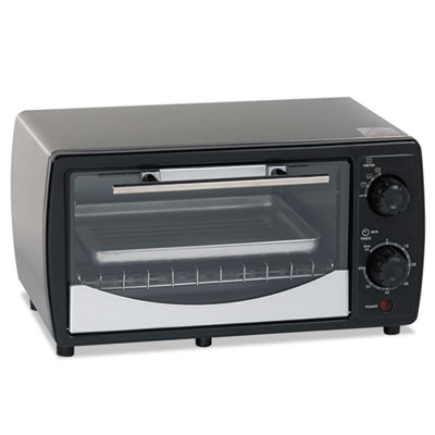 Toaster oven, 0.32 cu ft capacity, stainless steel/black, 14 1/2 x 11 1/2 x 8, sold as 1 each