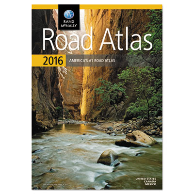 Road atlas, north america+puerto rico, soft cover, sold as 1 each