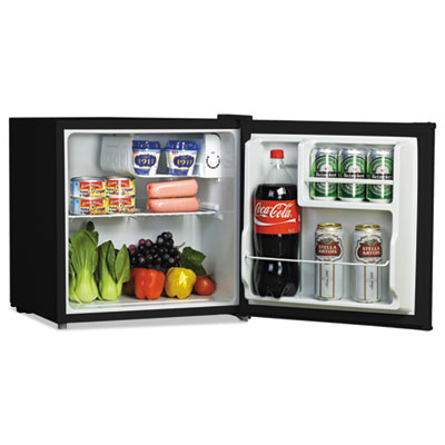 1.6 cu. ft. refrigerator with chiller compartment, black, sold as 1 each