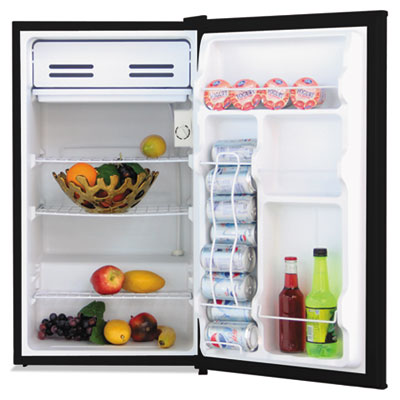 3.3 cu. ft. refrigerator with chiller compartment, black, sold as 1 each