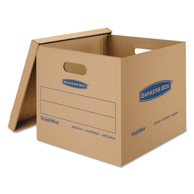Smoothmove classic medium moving boxes, 18l x 15w x 14h, kraft, 8/carton, sold as 1 carton, 8 each per carton