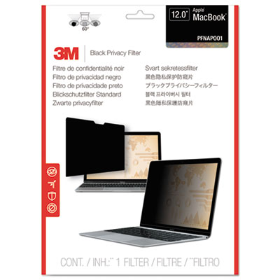"Blackout frameless privacy filter for 12"" widescreen macbook air, 16:9, sold as 1 each"