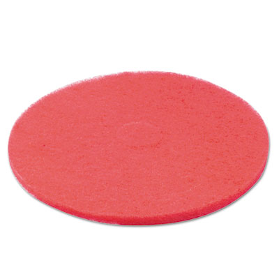"Standard floor pads, 20"" dia, red, 5/carton, sold as 1 carton, 5 each per carton"