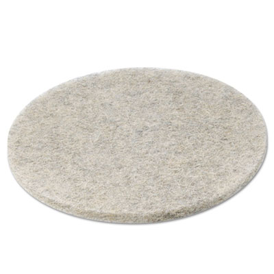 Natural hair extra high-speed floor pads, natural, 20-inch diameter, 5/carton, sold as 1 carton, 5 each per carton