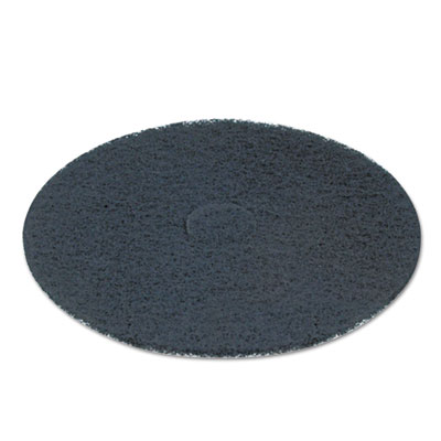 "Standard 12"" diameter stripping floor pads, black, 5/carton, sold as 1 carton, 5 each per carton"
