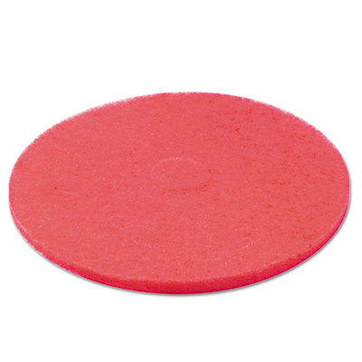 "Standard 12"" diameter buffing floor pads, red, 5/carton, sold as 1 carton, 5 each per carton"
