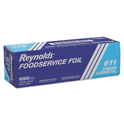 "Standard aluminum foil roll, 12"" x 1000 ft, silver, sold as 1 roll"
