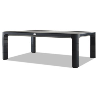 Adjustable monitor stand, 16 x 12 x 1 3/4 to 5 1/2, black, sold as 1 each