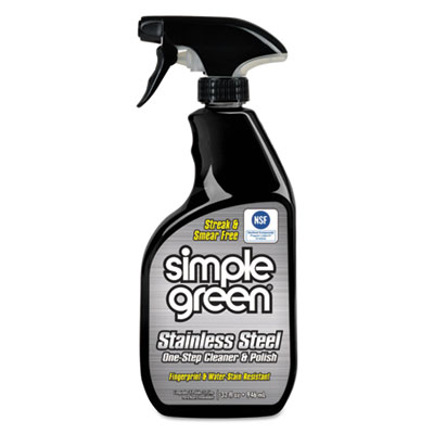 Stainless steel one-step cleaner & polish, 32oz spray bottle, sold as 1 each