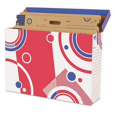 File 'n save bulletin board storage box, 27-3/4 x 19 x 7-1/4, bright stars, sold as 1 each