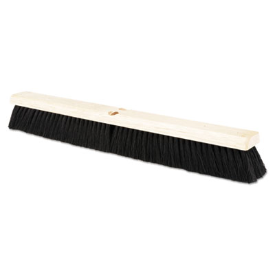 "Floor brush head, 2 1/2"" black tampico fiber, 24, sold as 1 each"