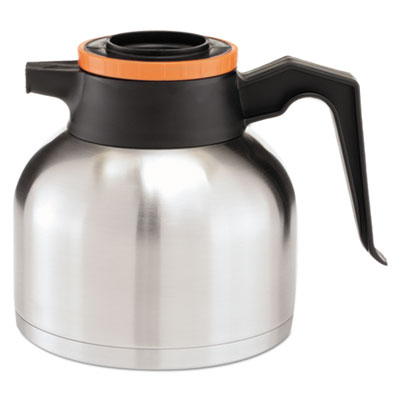 1.9 liter thermal carafe, stainless steel/ black and orange (decaf), sold as 1 each