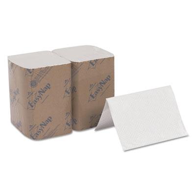 Easynap embossed dispenser napkins, 2ply, 6 1/2x9 7/8, white, 500/pk, 6 pack/ctn, sold as 1 carton, 6 package per carton