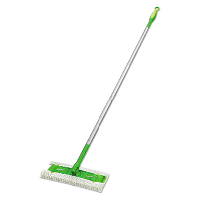 "Sweeper mop, 10"" wide mop, green, sold as 1 each"