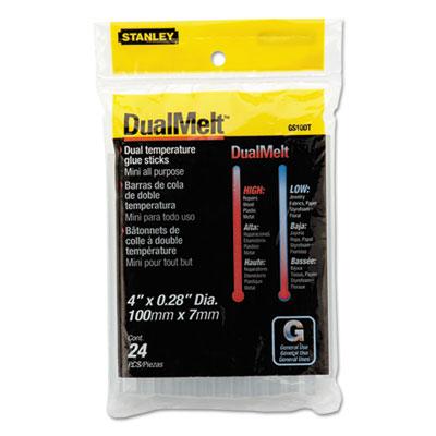 "Dual temperature mini glue sticks, 4"", clear, 24/pack, sold as 1 package"