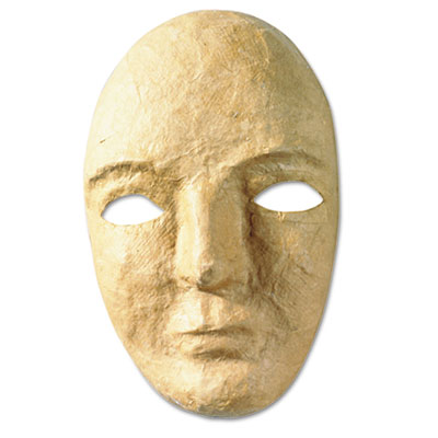 Paper mache mask kit, 8 x 5 1/2, sold as 1 each
