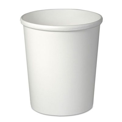 Flexstyle double poly paper containers, 32oz, white, 25/pack, 20 packs/carton, sold as 1 carton, 500 each per carton