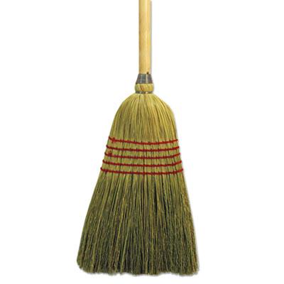"Parlor broom, corn fiber bristles, 42"" wood handle, natural, sold as 1 each"