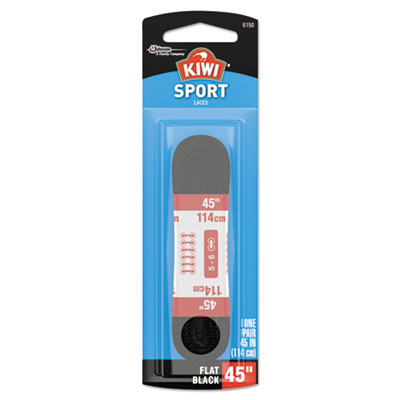 "Kiwi flat sport laces, black, 45"", 48/carton, sold as 1 carton, 48 each per carton"