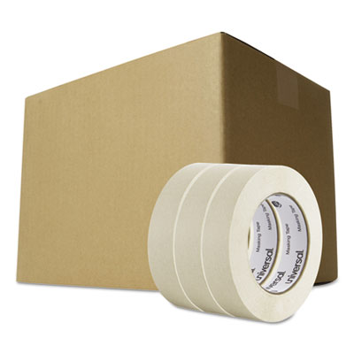 "General purpose masking tape, 24mm x 54.8m, 3"" core, 3/pack, 12 packs/carton, sold as 1 carton, 12 package per carton"