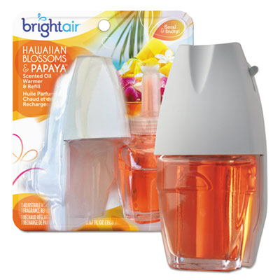 Electric scented oil air freshener warmer/refill, hawaiian blossoms and papaya, sold as 1 each