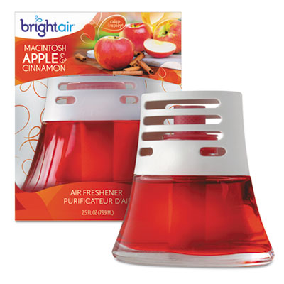 Scented oil air freshener, macintosh apple and cinnamon, red, 2.5oz, 6/carton, sold as 1 carton, 6 each per carton