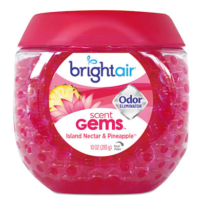 Scent gems odor eliminator, island nectar and pineapple, pink, 10 oz, 6/carton, sold as 1 carton, 6 each per carton