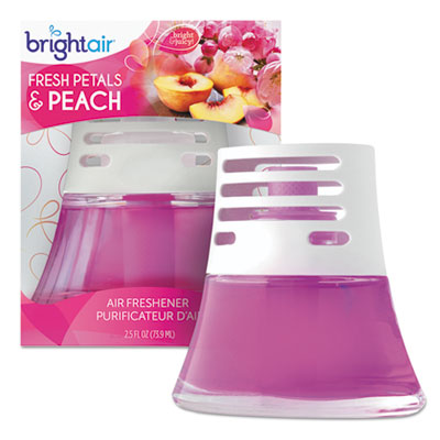 Scented oil air freshener diffuser, fresh petals and peach, pink, 2.5oz, sold as 1 each