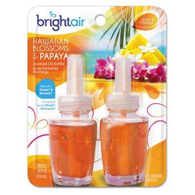 Electric scented oil air freshener refill, hawaiian blossom/papaya,2/pk, 6 pk/ct, sold as 1 carton, 6 package per carton