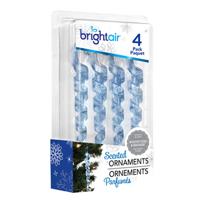 Scented ornaments icicle air fresheners, winter pine and balsam, 4/bx, 6 bx/ct, sold as 1 carton, 6 package per carton