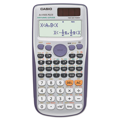 Fx-115esplus advanced scientific calculator, 10-digit natural textbook display, sold as 1 each