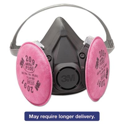 3M Half Facepiece Respirator 6000 Series, Reusable, Large