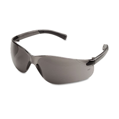 Bearkat safety glasses, wraparound, gray lens, sold as 1 box, 12 each per box