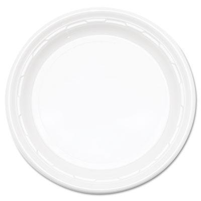 "Famous service impact plastic dinnerware, plate, 10 1/4"" dia, white, 500/carton, sold as 1 carton, 500 each per carton"