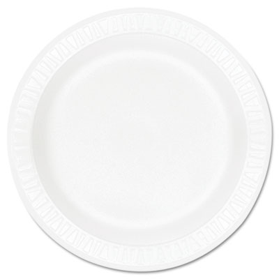 "Concorde foam plate, 9"" dia, white, 125/pack, 4 packs/carton, sold as 1 carton, 500 each per carton"