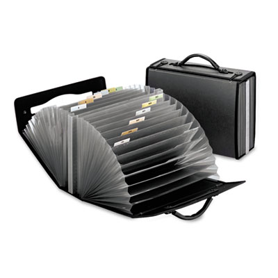 Portafile 26-pocket document carrying case, 4 5/8 x 13 1/8 x 10 1/4, smoke, sold as 1 each