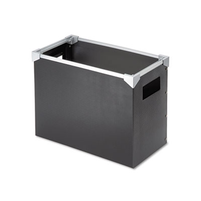 Poly desktop storage box, letter size, black, sold as 1 each