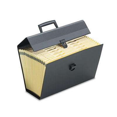 Portafile letter/legal expanding organizer, 19 pockets, letter, black, sold as 1 each