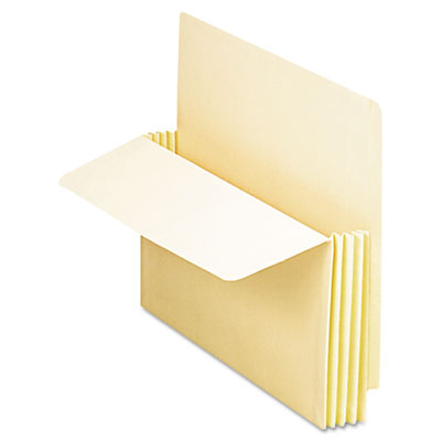Manila drop front shelf file pockets, 25 pockets, straight cut, letter, manila, sold as 1 box, 25 each per box