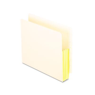 Manila drop front shelf file pockets, straight cut, 10 pockets, letter, manila, sold as 1 box, 10 each per box