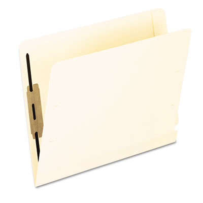 Laminated spine end tab folder with 2 fastener, 11 pt manila, letter, 50/box, sold as 1 box, 50 each per box