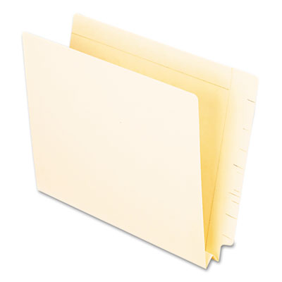 End tab expansion folders, straight cut end tab, letter, manila, 50/box, sold as 1 box, 50 each per box
