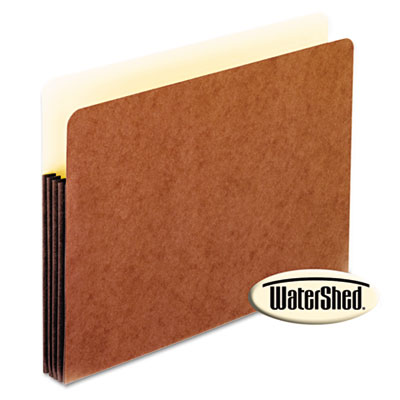 Watershed 3 1/2 inch expansion file pockets, straight cut, letter, redrope, sold as 1 each