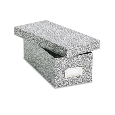 Reinforced board card file, lift-off cover, holds 1,200 3 x 5 cards, black/white, sold as 1 each