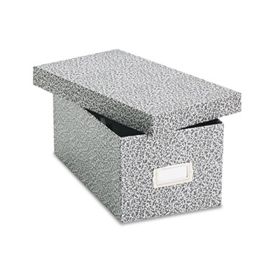 Reinforced board card file, lift-off cover, holds 1,200 4 x 6 cards, black/white, sold as 1 each