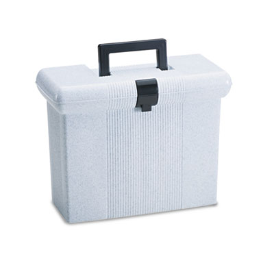 Portafile file storage box, letter, plastic, 14-7/8 x 6-1/2 x 11-7/8, granite, sold as 1 each