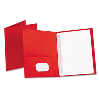 "Twin-pocket folders with 3 fasteners, letter, 1/2"" capacity, red, 25/box, sold as 1 box, 25 each per box"