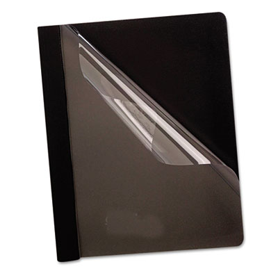 Premium paper clear front cover, 3 fasteners, letter, black, 25/box, sold as 1 box, 25 each per box