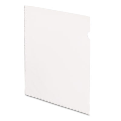 See-in file jackets, letter, vinyl, clear, 50/box, sold as 1 box, 50 each per box