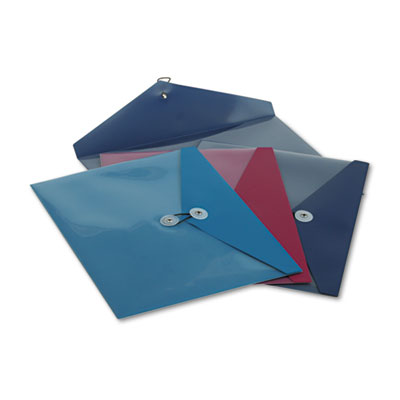 Viewfront poly booklet envelope, side opening, 11 x 9 1/2, 3 colors, 4/pack, sold as 1 package